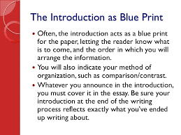writing the literary essay ppt video online  the introduction as blue print