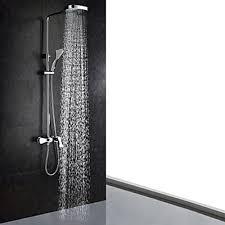 contemporary shower heads. Chrome Finish Contemporary Shower Faucet (Handheld+Showerhead) Heads