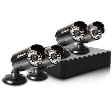 Compact Security System - 4 Channel Digital Video Recorder \u0026 Cameras USA