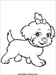kids cute little dogs coloring pages