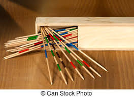 Game With Wooden Sticks Mikado game wooden sticks on table Detail of wooden stock 58