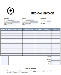 Office Invoice Sample Medical Invoice 7 Examples In Word Pdf
