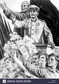 lenin and stalin lenin with stalin a propaganda poster stock photo 39580285 alamy