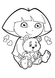 dora the explorer coloring pages 9 coloring kids color print