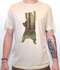 Tee Shirt Design Ideas bear in the woods t shirt