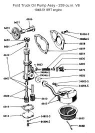 flathead parts drawings engines oil pump for 1948 to 51 truck