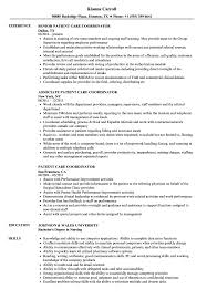 Care Coordinator Cover Letter Patient Care Coordinator Resume Magdalene Project Org