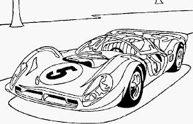Kleurplaat Raceautos