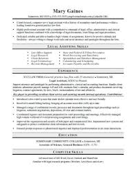 Entry Level Legal Assistant Resume Timhangtotnet