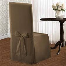 united curtain metro dining room chair cover 19 by 18 by 42 inch taupe