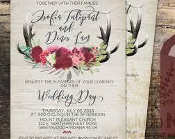wedding invitations etsy Handmade Wedding Invitations Etsy rustic wedding invitation, rustic wedding, invite calligraphy, boho floral wedding, rsvp card Elegant Wedding Invitations