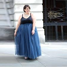 tulle long skirts plus size fashion skirts women personalized elastic waistline a line floor length long tulle long skirts