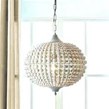 creative co op chandelier white beaded r creative co op rs metal wood beads wash a