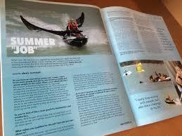 your guardian angel drives a jetski link magazine andrea belovska has an unusual summer job
