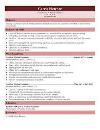 Generic Objective For Resume Adorable 48 Free Medical Assistant Resume Templates