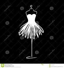 Black Couture Fashion Designers Tailor Dummy Fashion Icon On White Background Atelier