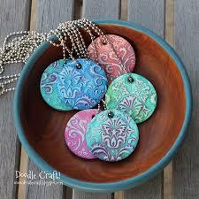 damask polymer clay pendants