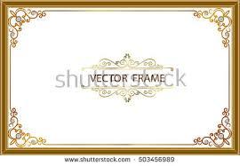 Gold Photo Frames Corner Thailand Line Stock Vector 503456989