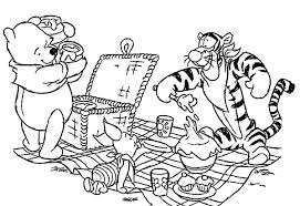 Small Picture Winnie the Pooh and Friends Picnic Coloring Page NetArt