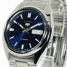 seiko 5 automatic dark blue pearlescent face snxs77k1