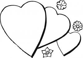 Small Picture Coloring Pages Of Hearts Simple Coloring Pages Coloring Pages Of