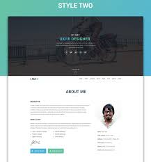 I Am X Freebie Web Resume Template Psdhtml On Behance
