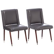 splendid dark grey dining chairs joan modern dark grey leather dining chairs set of 2