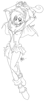 Or dark magician & dark magician girl. Black Magician Girl Lineart By Meeps On Deviantart