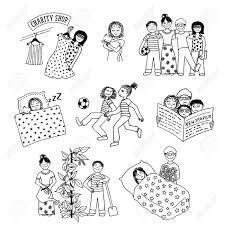 Vettoriale Raccolta Dei Bambini Disegnati A Mano Coinvolti In
