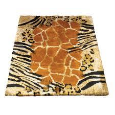 walk on me animal blackbrown safari print area rug
