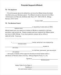Free Affidavit Form Download Cool Parent Affidavit Form Ceriunicaasl