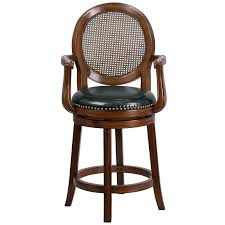 wood counter height chairs wood counter height stool w arms black leather swivel seat for unfinished