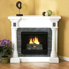 rustic corner electric fireplace entertainment center white tv stand