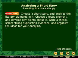 writing workshop analyzing a short story assignment prewriting  analyzing a short story prewriting practice and apply choose a short story and analyze