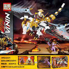 Đồ chơi lắp ráp Non Lego Ninjago Season Phần 13 PRCK 61071 Rồng trắng Ninja  của sư Phụ Wu Xếp mô hình minifigures