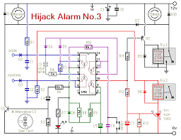 how to build an anti hijack vehicle alarm circuit diagram for vehicle hijack alarm no 3