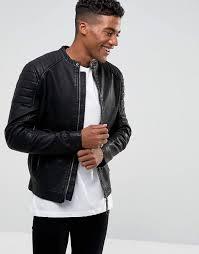 new look biker jacket in black color black men new look jackets brand