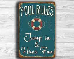 Swimming Pool Decor Signs Swimming Pool Signs Etsy 54