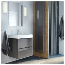Light Gray Bathroom Wall Cabinet Ikea Godmorgon High Gloss Gray Wall Cabinet With 1 Door