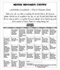Homework Calendar Excel Homework Calendar Template 9 Free Word Pdf Documents