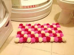 multi colored bath rugs pink pom poms bath mat bathroom rug mat multicolored rug children room multi colored bath rugs