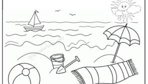 Small Picture Summer Coloring Pages kids on beach