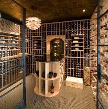 decoration: Rustic Cork Designs With Sweet Wine Storage Plus Interesting  Chandelier Side Downlight On Nice