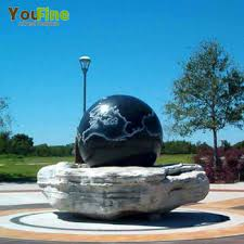 yard marble rolling ball water fountain for sale ball water fountain17