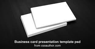 Free Download Business Card Presentation Templates Psd Prasads Blog