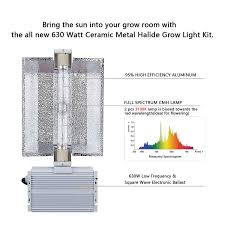 630w Cmh Grow Light Sunstream 630w Double Bulb Cmh Grow Light System Include Bulb