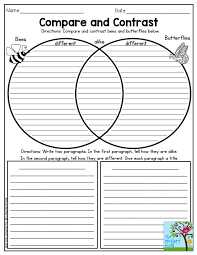 the best compare and contrast ideas compare and compare and contrast bees and butterflies such a fun activity for third grade the