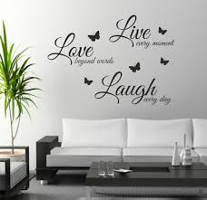 >foodymine live laugh love wall art sticker quote wall decor wall  foodymine live laugh love wall art sticker quote wall decor wall decal words butterflies