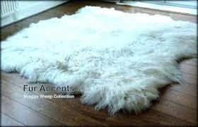 faux fur rug sheep fake white sheepskin area pink mongolian blue nursery 4 baby luxury throw