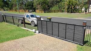 solar sliding gate opener kit installed